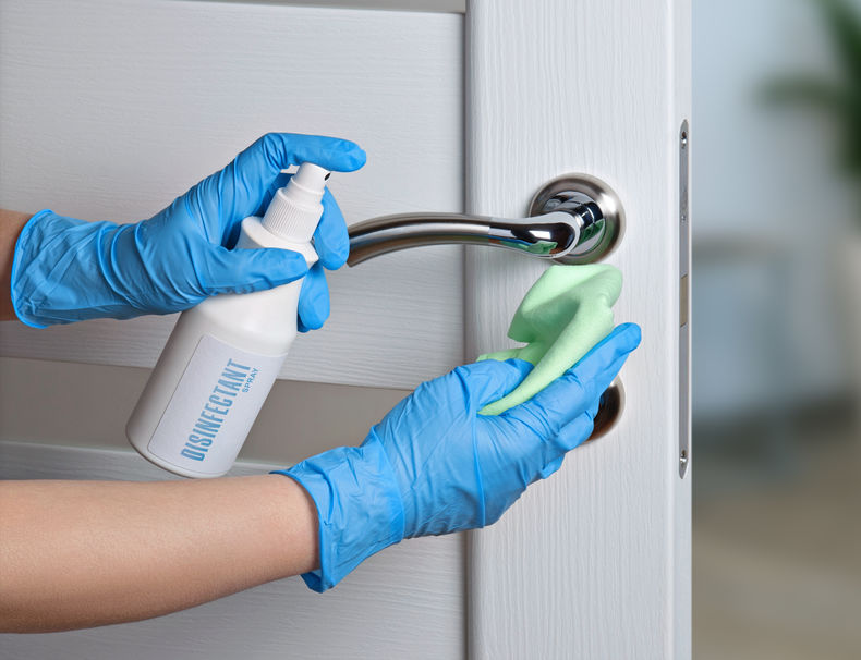 disinfect high touch objects