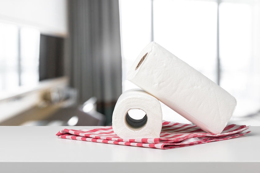 kitchen towels on table