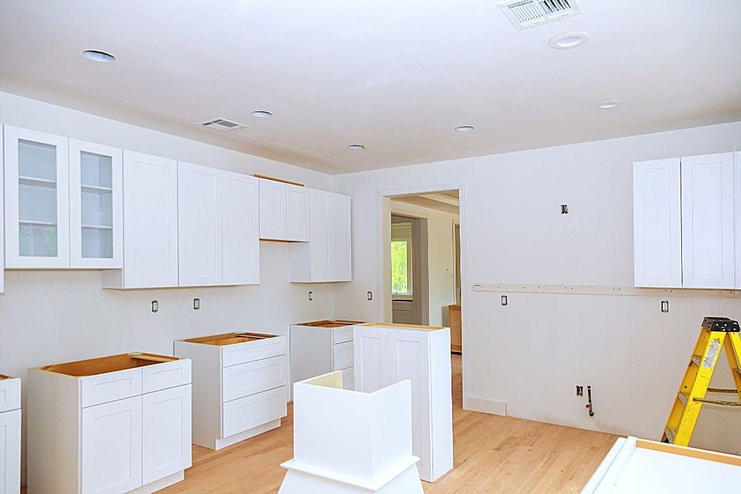 empty kitchen in construction